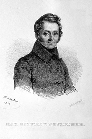 Maximilian Weyrother - Maximilian Weyrother, lithograph, 1836