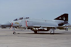 A McDonnell Douglas F-4J Phantom F3 of No. 74 Squadron which was based at RAF Wattisham.