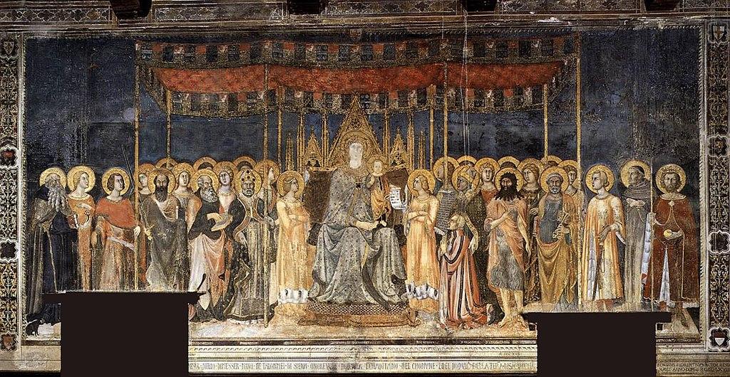 Maesta. Lippo Memmi, Palazzo Comunale in San Gimignano