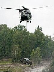 Mehrzweckhubschrauber NH90 mit Wolf