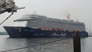 Meyer Turku - Image: Mein Schiff 5 leaving Kiel I (cropped)