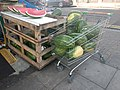 Melons in a shopping cart Ballards Lane, Finchley.jpg