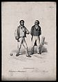 Men of opposing social classes in a game of boules; illustra Wellcome V0009477EL.jpg