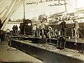 Merchant submarine, Deutschland, hoisting goods out of the hold (30028157240).jpg