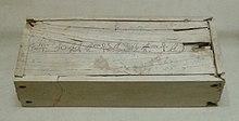 En lille trækasse indskrevet med navne og titler på Merenre Nemtyemsaf I, Musée du Louvre