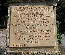 Waterloo-Gedenktafel in Merseburg (Quelle: Wikimedia)