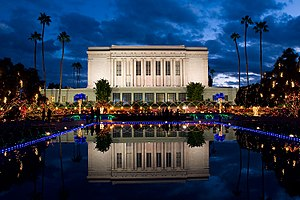 Mesa Arizona Temple - Christmas Lights at the Temple