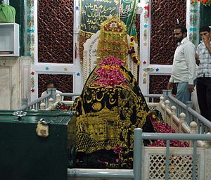 Mian Mir - Inside view of Hazrat Mian Mir's Mausoleum in Lahore.