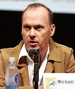 Michael Keaton vid San Diego Comic-Con International 2013.