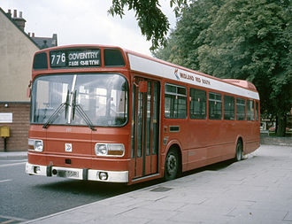 Leyland National - Midland Red South Leyland National in Tamworth in 1986