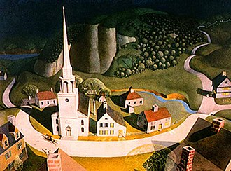 Regionalism (art) - Grant Wood, The Midnight Ride of Paul Revere, 1931, Metropolitan Museum of Art, New York City, NY