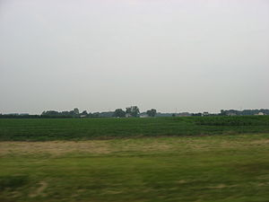 Milan Township, Erie County, Ohio - Fields and houses in Milan Township