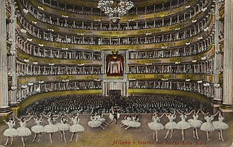 La Scala - Interior of the opera house in 1900