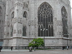Milan Cathedral, the east end.