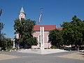 Millecentenary memorial and Roman Catholic church, 2016 Csepel.jpg
