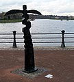 Millennium Milepost by the Lagan (1) - geograph.org.uk - 768131.jpg