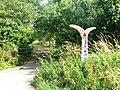 Millennium milepost on NCN51 near Bletchley - geograph.org.uk - 1409708.jpg