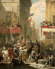 Carnival in Rome at Corso.