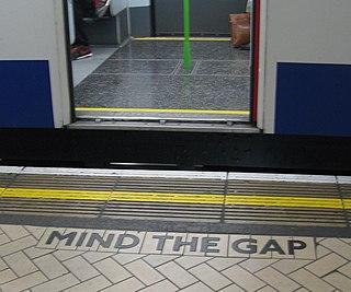 Mind the gap Warning to train passengers
