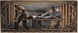 Fletcher Martin - Study for Mine Rescue (1939), Smithsonian American Art Museum