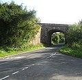 Minor road passing under the railway - geograph.org.uk - 1416650.jpg