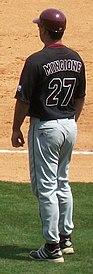 Mississippi State at Arkansas baseball, 2011 003.jpg