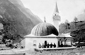 Islam in Slovenia - An old Austro-Hungarian Mosque in Log pod Mangartom, pulled down after World War I
