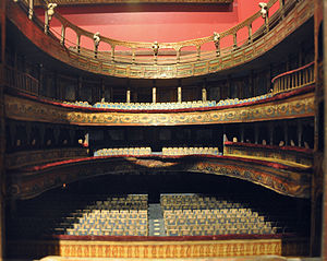 Model of the auditorium of the Empire Theatre,...