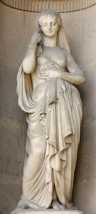 Modesty - Modesty, sculpture by Louis-Léopold Chambard, 1861
