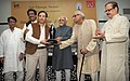 """Mohd. Hamid Ansari presented the 'Nai Duniya Awards for Excellence in Urdu Journalism"""" to outstanding media persons in Urdu Journalism, at a function, in New Delhi. The Union Minister for Civil Aviation, Shri Ajit Singh (1).jpg"""