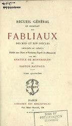 Recueil général et complet des fabliaux des XIIIe et XIVe siècles