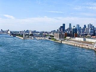 Foto des Sankt-Lorenz-Stroms bei Montreal