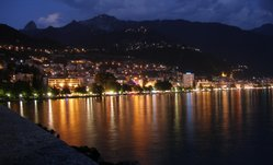 Montreux at night.