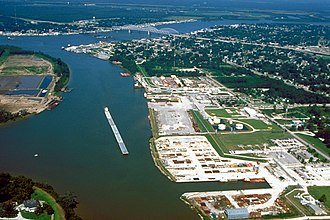 Morgan City, Louisiana - Image: Morgan City Louisiana aerial view