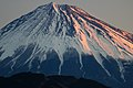 Morgenrot of Mount Fuji from Satta Pass.jpg