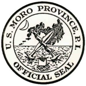 Department of Mindanao and Sulu - Image: Moro Province Official Seal