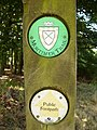 Mortimer Trail marker post - geograph.org.uk - 219511.jpg