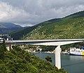 Most dr. Franja Tudmana 2001 Franjo-Tudman-Brücke nördl Teil Spannbetonbrücke 147m über Adria-Bucht Ombla Dubrovnik Kroatien - Foto Wolfgang Pehlemann DSC04565.jpg