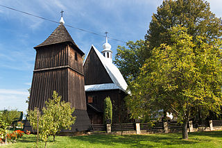 Moszczenica Niżna Village in Lesser Poland Voivodeship, Poland