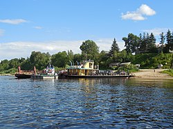 Boat crossing, Krasnoborsky District
