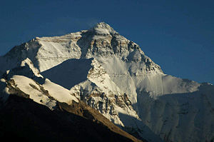 Mount Everest north face from Ronguk monastery...