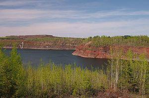 Mountain Iron Mine - Mountain Iron Mine from a city overlook