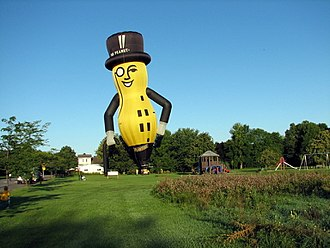 Mr. Peanut - A hot air balloon in the shape of Mr. Peanut