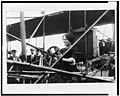 Mrs. Glenn Curtiss at the controls of an airplane LCCN93503467.jpg