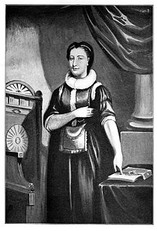 portrait of Elizabeth Aldworth as a young woman wearing a masonic apron