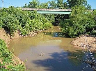 Mud River (West Virginia) - The Mud River in Milton in 2007