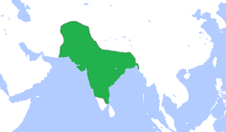 Map of Mughal Empire in 1700 CE
