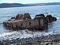 Mulberry Harbour 'Beetles' at Old House Point, Loch Ryan - geograph.org.uk - 358833.jpg