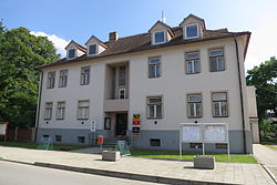 Municipal office in Budkov, Třebíč District.JPG
