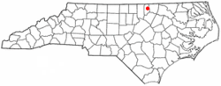 Location of Middleburg, North Carolina